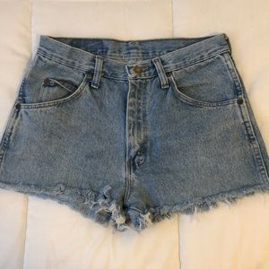 Light wash Wrangler shorts